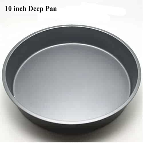 Topseller Carbon Steel Round Dish Pizza Pan Non-stick Pizza Pie Tray Baking Kitchen Bakeware Tool (10