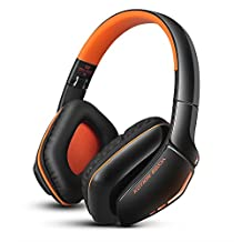 Lemonda Foldable Headphones for PS4 Bluetooth 4.1 Wireless Headset & 3.5mm Wired Headset with Microphone, Noise Isolation Foldable Gaming Headset with mic, for PS4 PC Mac Smartphones Computers Laptops Black/Orange