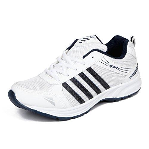 41E75 UTKPL. SS500  - Asian shoes Wonder 13 White Navy Blue Men's Sports Shoes