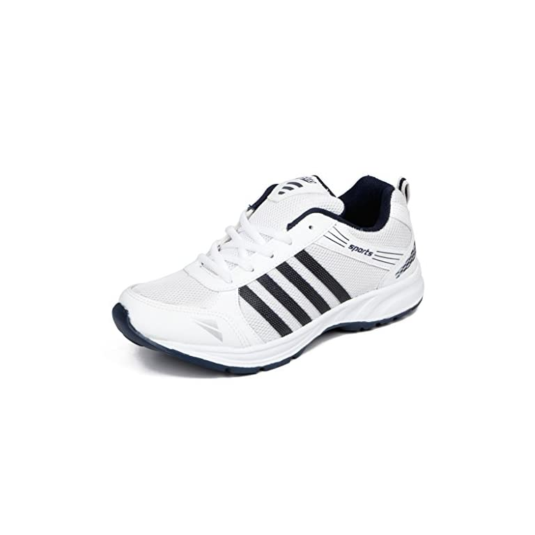 41E75 UTKPL. SS768  - Asian shoes Men's Sports Shoe White Navy Blue Mesh 8 UK/Indian