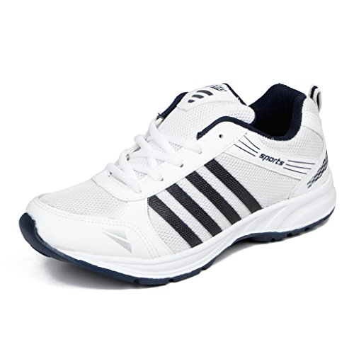 Asian Shoes Wonder 13 White Navy Blue Men's Sports Shoes 10 UK/Indian