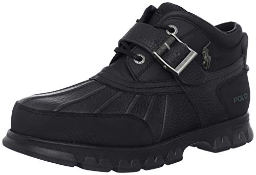 Polo Ralph Lauren Men's Dover III Hiking Boot, Black/Black, 10.5 D US
