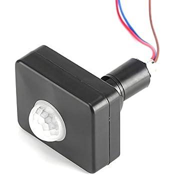 Garosa Infrared Motion Sensor Mini 360° Recessed Ceiling PIR Body Motion Detector Adjustable Lamp Light Switch Home Security 110-240V