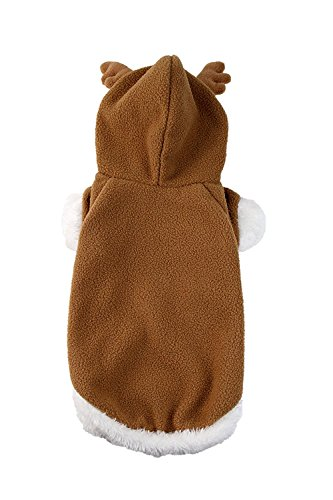 Picture of Midlee Small Dog Large Fuzzy Reindeer Dog Costume by