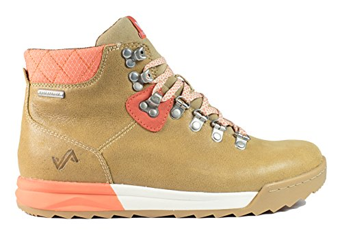 Forsake Patch - Women's Waterproof Premium Leather Hiking Boot (7.5, Sand/Coral) (Leather Sand Boots)