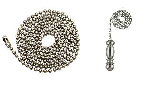 Pull Chain Extension 36 Quot Brushed Nickel Beaded Ball Chain