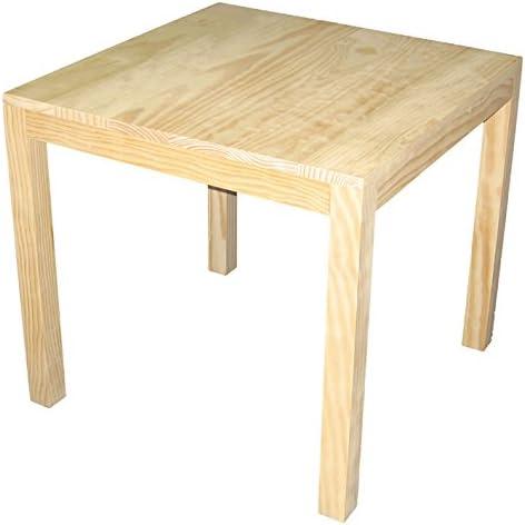 Mesa infantil cuadrada de madera. En crudo, para pintar. Madera de ...