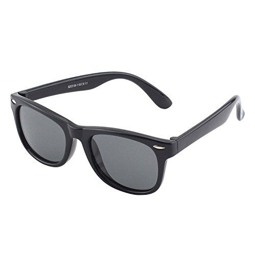 CGID Soft Rubber Kids Wayfarer Polarized Sunglasses for Children Age - Sunglasses 5 Nine