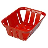 TableTop King 4403005 Stackable Red Munchie Basket 7 3/8'' x 5 3/8'' - 24/Case
