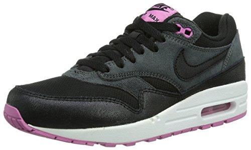 Nike WMNS Air MAX 1 Essential, Scarpe sportive, Donna Negro (Schwarz / Violett)