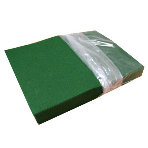 (100% KELLY GREEN ACRYLIC FELT-1208, 25 PCS PER PACK)