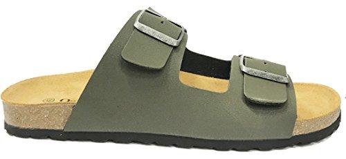 Leather Unisex Malaga Burkinstock Style Sandals Hyde amp; Oak York New Khaki YqFxCPw