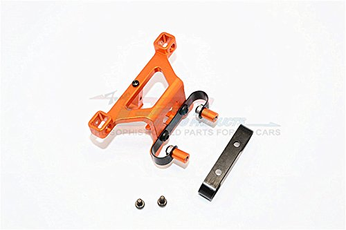 Traxxas 1/16 Mini E-Revo, Mini Slash Upgrade Parts Aluminum Front Body Post Mount With Screw - 1Pc Set Orange