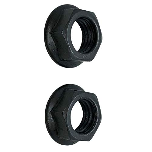 Forest Byke Company 14mm Crank Arms Nuts for Bicycle Bottom Bracket Cotterless Crank (Set of 2)