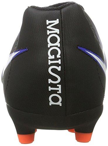 Nike 844204-016, Botas de Fútbol para Niños Negro (Black / White-Paramount Blue-Hyper Orange)