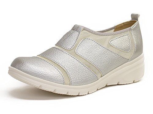 森林名目上の海洋ウォーキングシューズ 靴 レディース 歩きやすい ウエッジソール ストレッチメッシュ 軽量