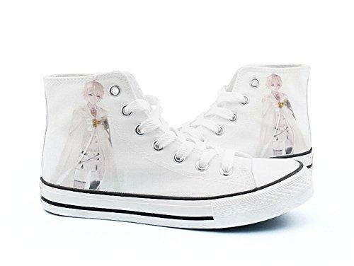 Seraph De La Fin Anime Chaussures De Toile Cosplay Chaussures Sneakers Noir / Blanc Blanc 8