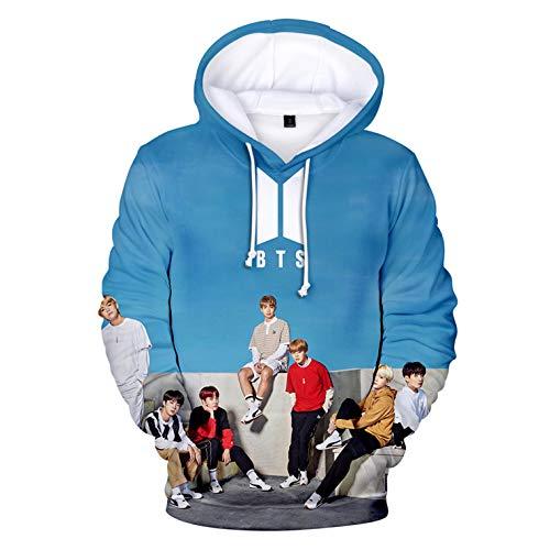 Kpop BTS 3D Love Yourself Hoodie Concert Sweater Jin Jimin Rap Monster Suga Jacket - Monster Logo Sweatshirt