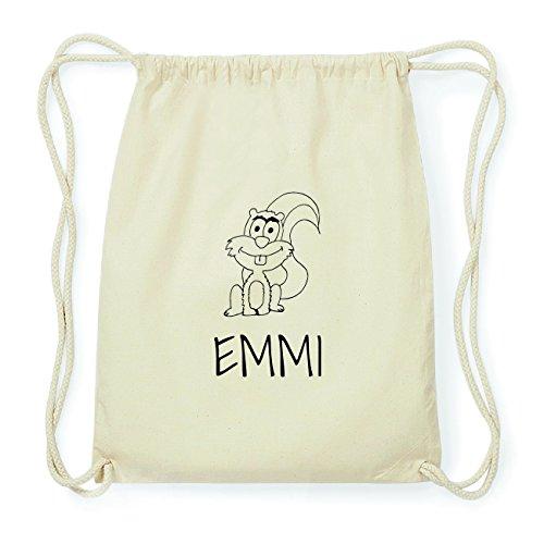 JOllipets EMMI Hipster Turnbeutel Tasche Rucksack aus Baumwolle Design: Eichhörnchen