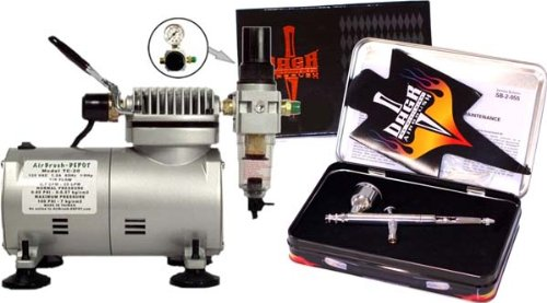 - DeVILBISS DAGR AIRBRUSH-Compressor/Hose-Paint Spray Gun