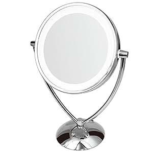 ClearView - Espejo con luz led (doble cara, 25 cm, regulable)