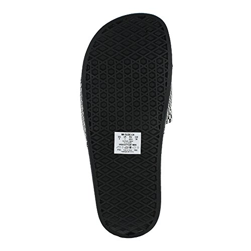 Sandalias Vans White Hombre Checkerboard Slide on Black EAwqrBAg