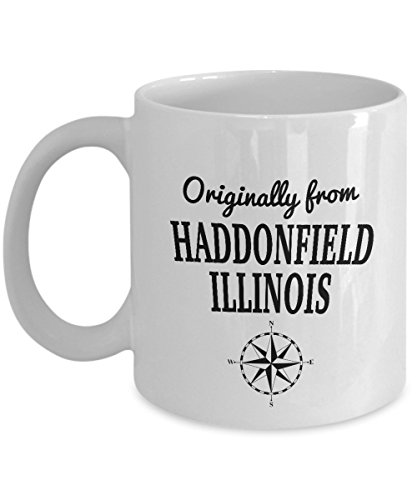 Movie Mug - Originally from Haddonfield, Illinois - Cool Ceramic Coffee Mug for the World's Best Classic Motion Picture Halloween Fans - Birthday Christmas Chanukah Gift (Haddonfield Illinois Halloween)