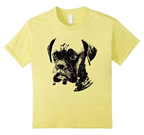 unisex-child Boxer Dog T-Shirt 12 Lemon (Boxer Dog Shirts)