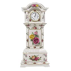 Royal Albert Old Country Rose 16-inch High Grandfather Clock