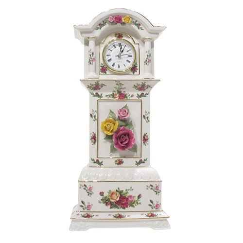 Royal Albert Old Country Rose 16-inch High Grandfather Clock by Royal Albert