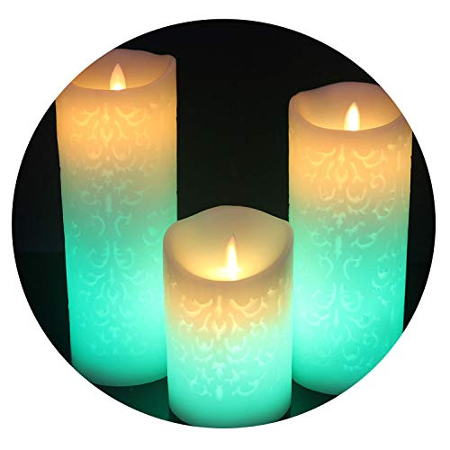 LED Candles Remote Control Electronic Flameless Breathing Candle Night Lights Wedding Party Decoration,80X120mm