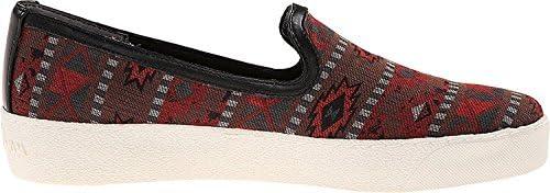 Sam Edelman Women's Becker Red Multi Tribal Print Sneaker 9.5 M