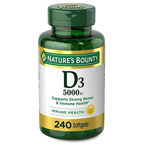 Vitamin D3 by Nature's Bounty for Immune Support. Vitamin D...