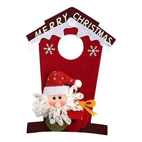 Fascigirl Door Decor, Christmas Door Hanger Snowman Santa Door Knob Hanger Christmas Door Decoration