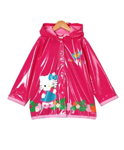 Sanrio Hello Kitty Girl's Pink Rain Coat - Sizes Toddler / Little kids