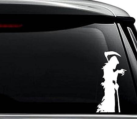 """/'/'SIZES/"""" Grim Reaper Car Bumper Sticker Decal"""