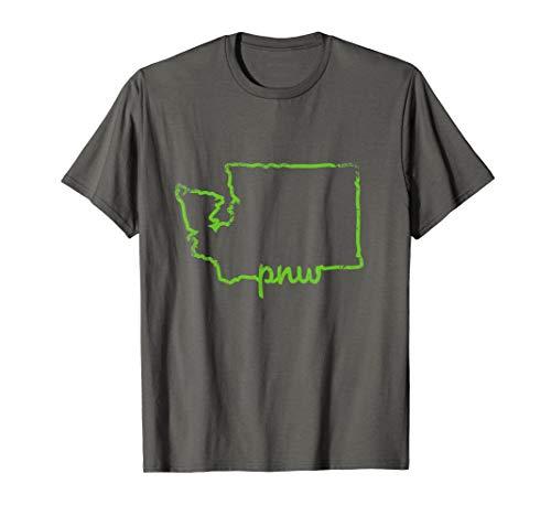 Pacific Northwest PNW State of Washington T Shirt