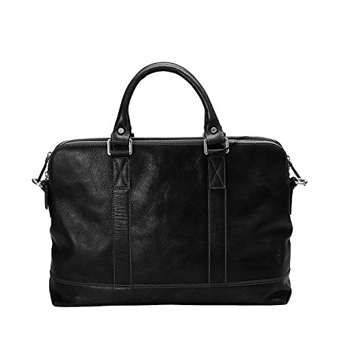 Leather Briefcase Men Wallet 4264 Black Coffee Buddy Picard