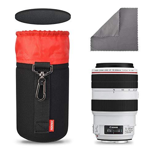 CADeN Lens Case Lens Pouch Bag with Thick Protective Neoprene Soft Plush Waterproof, Compatible for DSLR Camera Lens (Canon, Nikon, Sony, Olympus, Panasonic,etc) Medium 13CMx9.5CM
