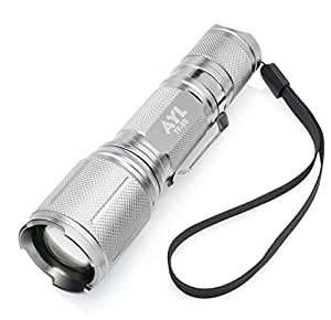 Premium Quality Bright LED Tactical Torch Flashlight With Built-In Rechargeable Battery – 3 Modes – Adjustable Focus Zoom Lens – Excellent For Hiking, Camping, Blackouts & Emergencies
