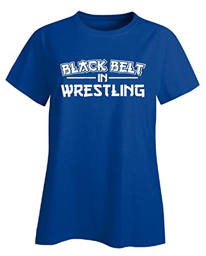 Black Belt In Wrestling Gift - Ladies T-shirt Ladies 3xl Royal by We Add Up