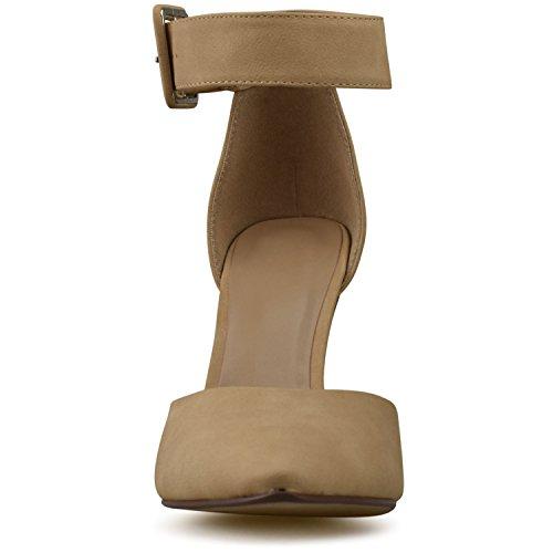 Pumps Leather Sandals Stilettos Premier High Toe Pointed Standard Women's Strappy Heel Premium Studded Natural cw18zHZxwq