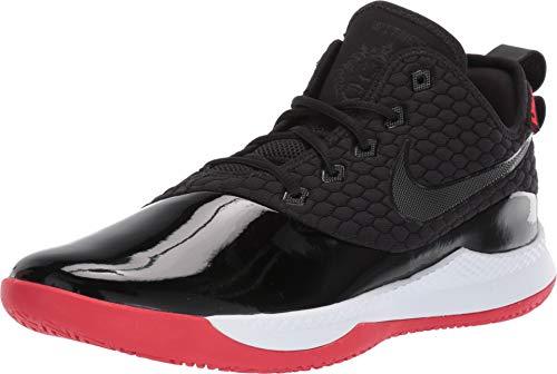 Nike Men's Lebron Witness III PRM Basketball Shoe (8 M US, Black/White/University Red) (The Best Basketball Shoes Ever)