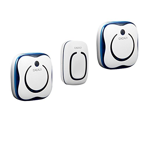 DoorBellWireless Portable 2 Receiver and 1 Button No