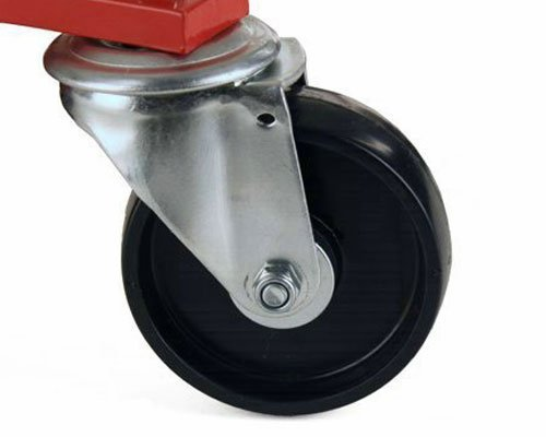 (4) Dragway Tools Hydraulic Wheel Dolly 12'' Wide Lift Jack Hoist 1500 lb Shop Tool Foot Pump and Storage Stand by Dragway Tools (Image #7)