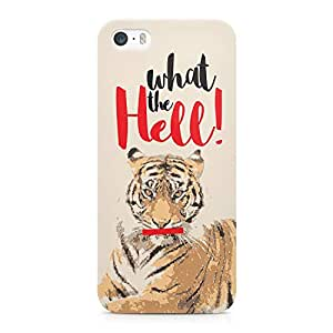 Loud Universe Tiger What The Hell Printed Durable Wrap Around iPhone SE Case - Beige