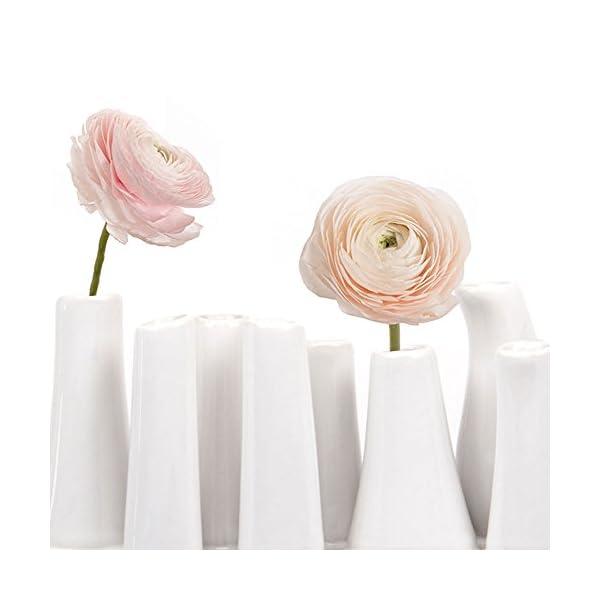 Chive-Pooley-2-Unique-Rectangle-Ceramic-Flower-Vase-Small-Bud-Vase-Decorative-Floral-Vase-for-Home-Decor-Table-Top-Centerpieces-Arranging-Bouquets-Set-of-8-Tubes-Connected-White