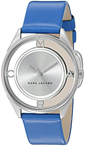 Marc Jacobs Women's Tether Blue Leather Watch - MJ1458