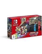 Nintendo Switch (Neon Red/Neon Blue) with Mario Kart 8 Deluxe - Limited Edition Bundle [Edizione: Regno Unito]