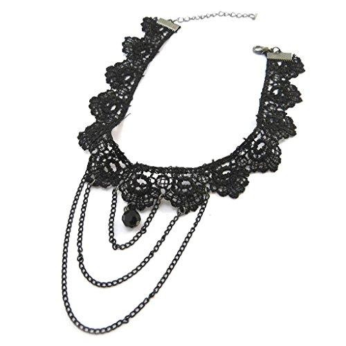 Costume Courtisane (Crew neck creative 'Courtisanes' black (lace).)